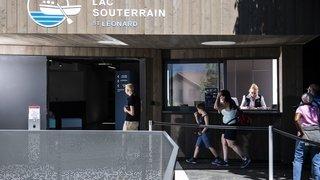 Saint-Léonard: le lac souterrain a rouvert en version modernisée et agrandie