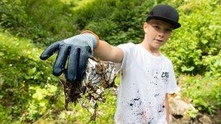Ramassage des déchets aux Crosets