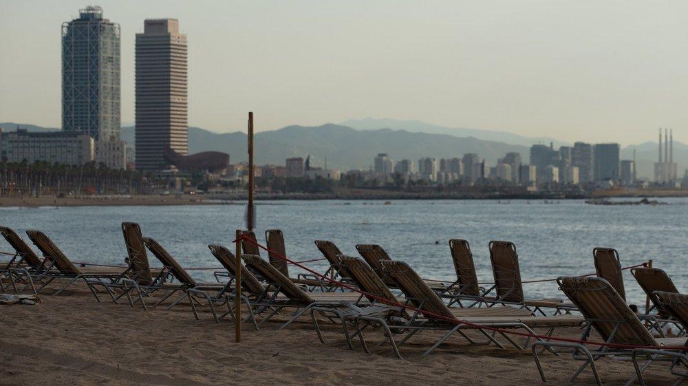 Les Valaisans ne se sont pas rués sur les plages de Barcelone cette année.