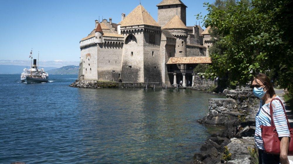En temps normal, 77% des visiteurs du château de Chillon viennent de l'étranger contre 23% de Suisse. Depuis sa réouverture, c'est l'inverse.