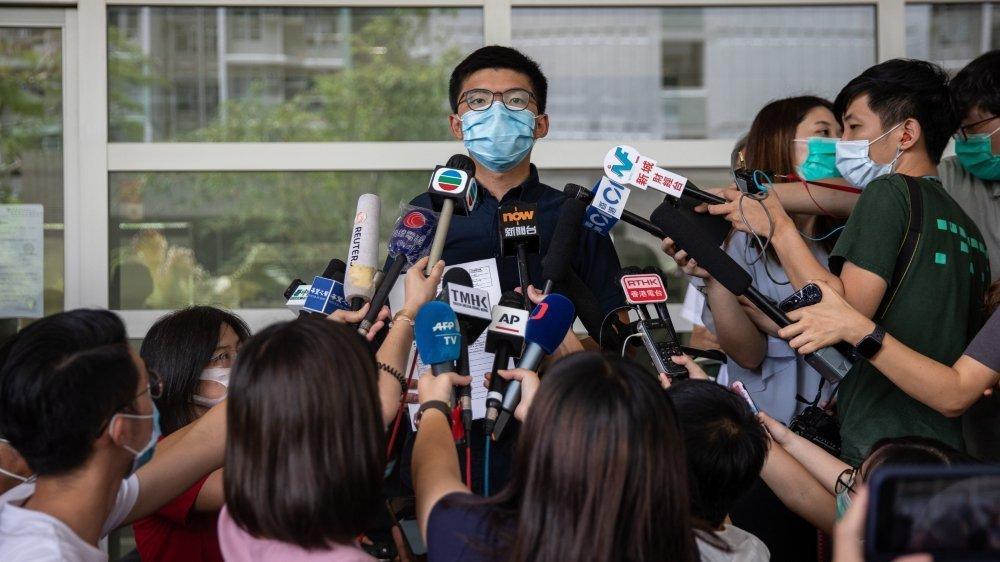 Joshua Wong s'était porté candidat le 20 juillet.