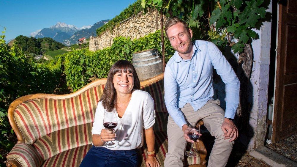 Morgane Pfefferlé et Alain Quartenoud, cofondateurs de Travelise, proposent une première déclinaison de leur Valais Tour faite de dégustations et de rencontres.