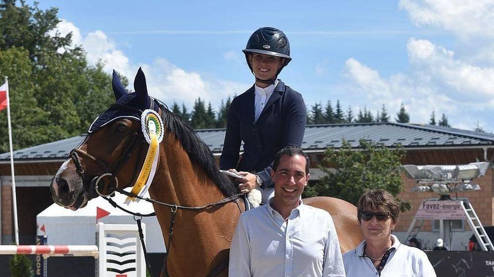Aurelia Loser s'est imposée avec deux chevaux différents.
