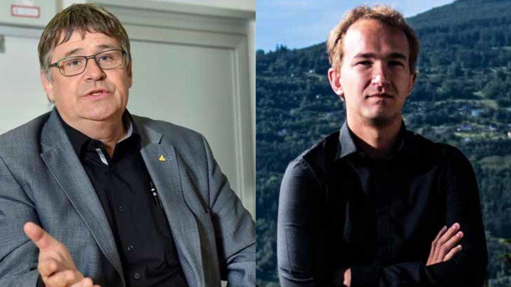 Raymond Borgeat, coprésident du Centre gauche-PS et Philippe Jansen, coprésident des Vert'libéraux