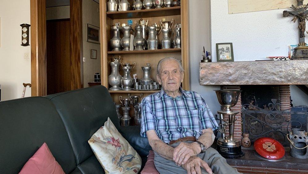 Michel Rudaz, 90 ans, vit à Sion avec son épouse Paulette, 92 ans.