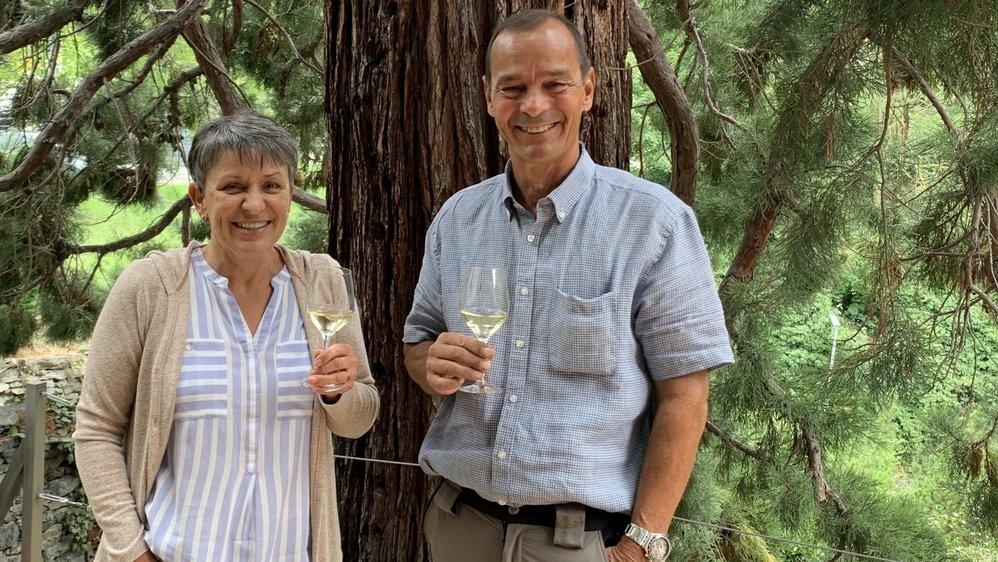 Romaine et Leo Mengis-Fellay élèvent du vin dans le plus haut vignoble d'Europe, à Visperterminen.