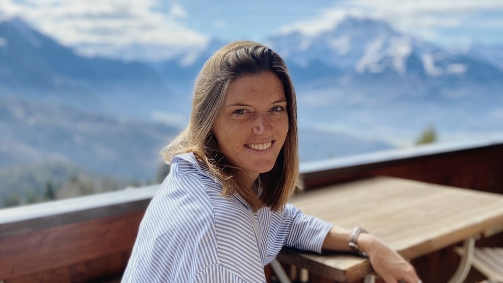 L'athlète vaudoise Lea Sprunger en vacances à Uzès, en France, lors de l'été 2019.