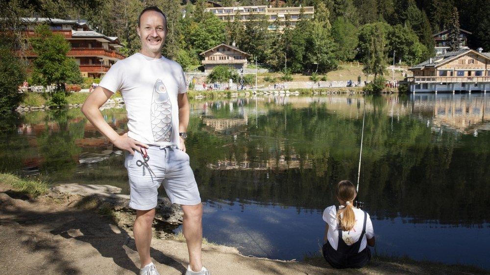 A 45 ans, Léandre Siggen vient de reprendre la présidence de la Société des pêcheurs de Sion, qu'il qualifie lui-même d'«enfant terrible».
