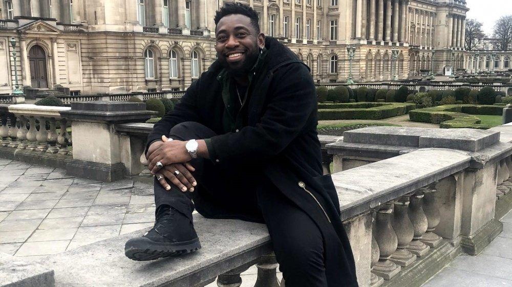 L'humoriste Christian Mukuna à Bruxelles, en juin 2019.