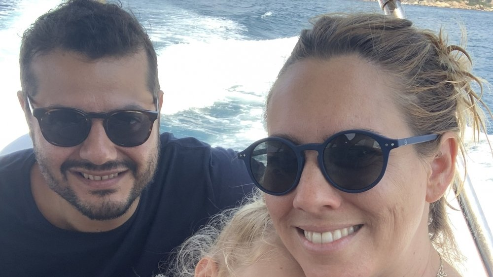 Pascal Meyer, sa fille et son épouse en voyage en Turquie, l'an dernier.