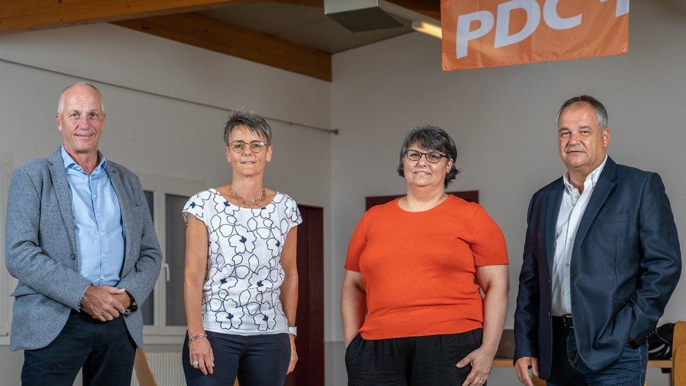 Les 4 candidats, de gauche à droite: Jean-Luc Planchamp, Sandra Cottet Parvex, Natercia Knubel et José Sotillo.