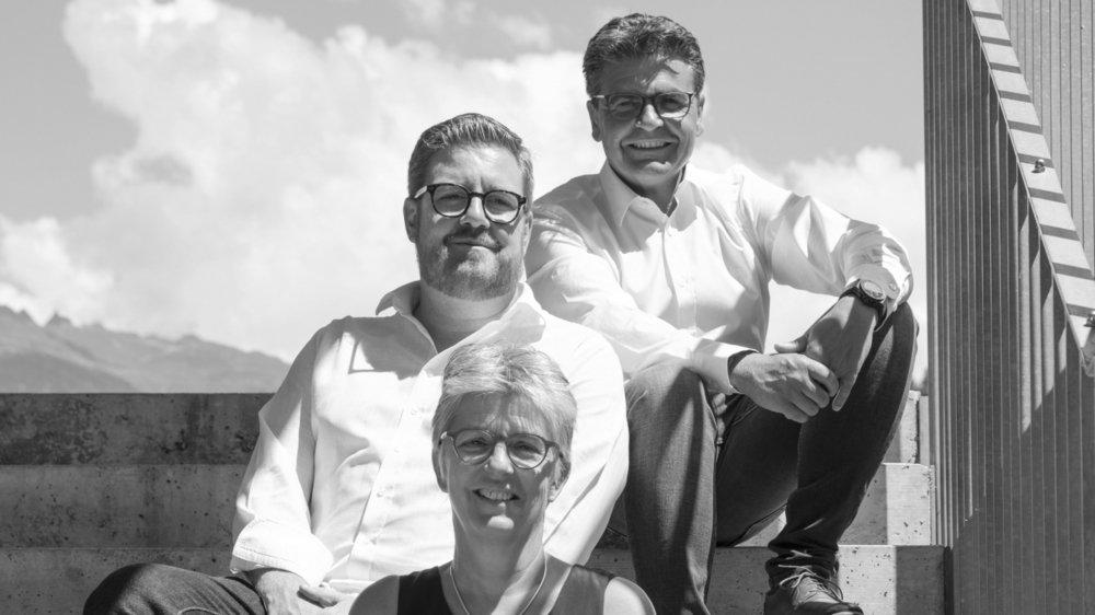 Anne-Michèle Lack, Eric Rosset et Christophe Maret composent la liste PLR pour les élections à Val de bagnes.