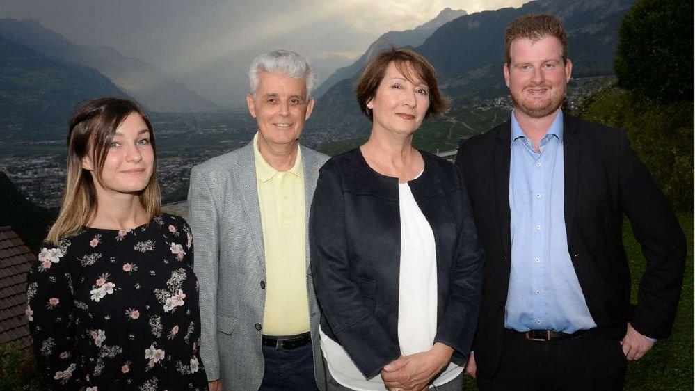 Les quatre candidats socialistes de Savièse.