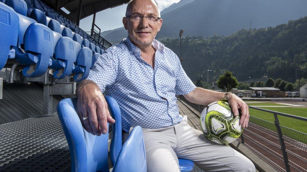 Hans Ritz, président du FC Naters, passionné de football, à la tête d'un cabinet d'architecture mais aussi actif dans l'immobilier et la construction. Comme un autre président bas-valaisan bien connu...