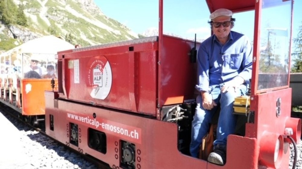 Roland Vouilloz a pris les commandes du train panoramique menant au pied du barrage d'Emosson jeudi après-midi.