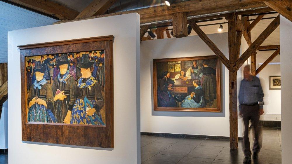La commune de Savièse a su valoriser son patrimoine pictural en constituant une riche collection et en la mettant en valeur dans un espace d'exposition permanent.