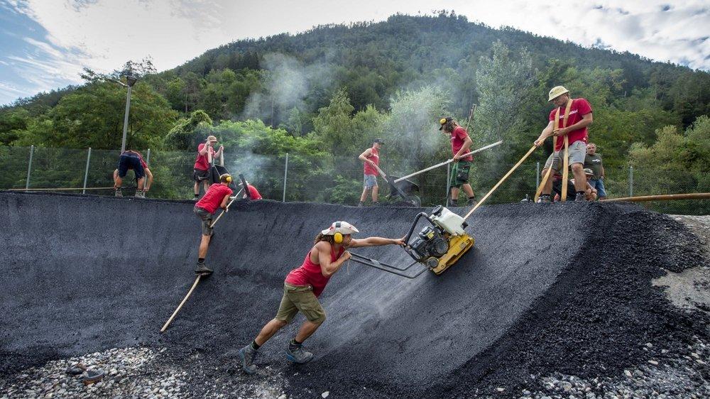 Le pump park de Martigny-Combe est l'œuvre de l'entreprise grisonne Velosolutions, leader mondial du secteur.
