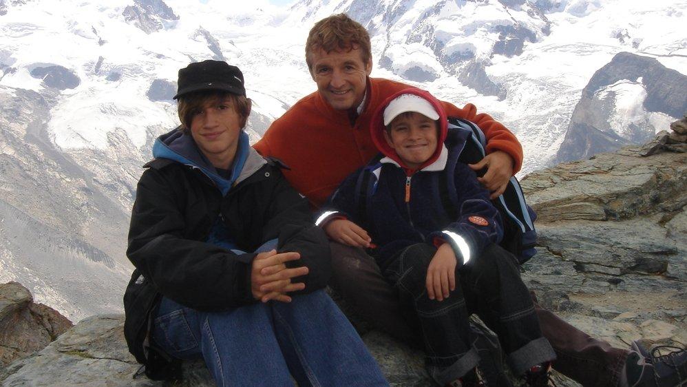 Daniel Rossellat en vacances, en 2008, avec ses fils Jules (à g.) et Emile.