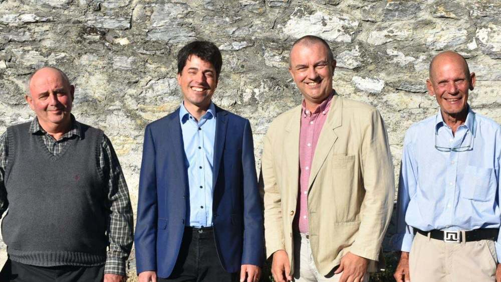 Albert Pitteloud, Blaise Melly, François-Xavier Flipo et Serge Cornuz veulent faire entrer l'UDC au Conseil communal sierrois.