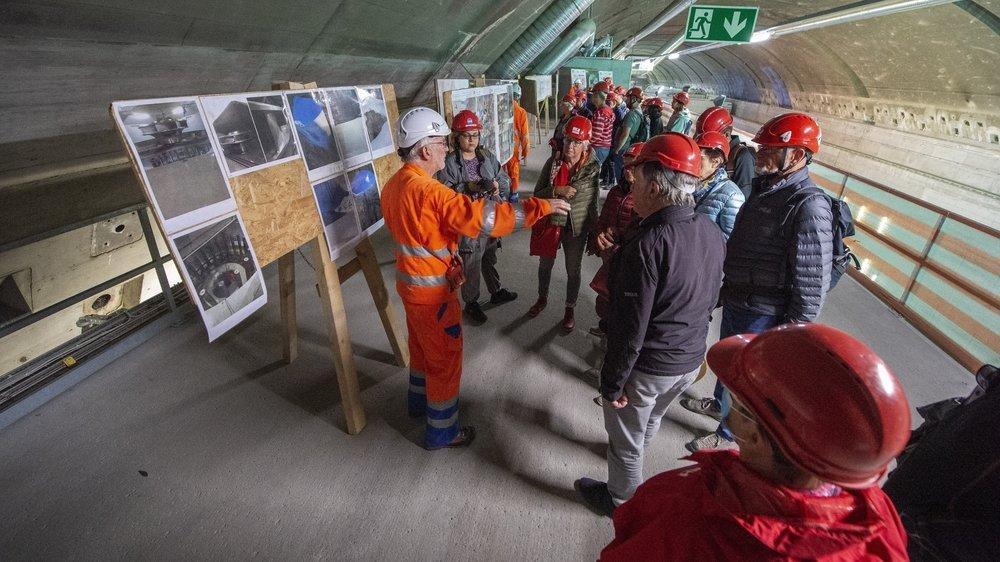 Plus de 110 habitants de Finhaut ont participé aux visites guidées et commentées de l'aménagement de Nant de Drance, dont la mise en service aura lieu en décembre 2021.