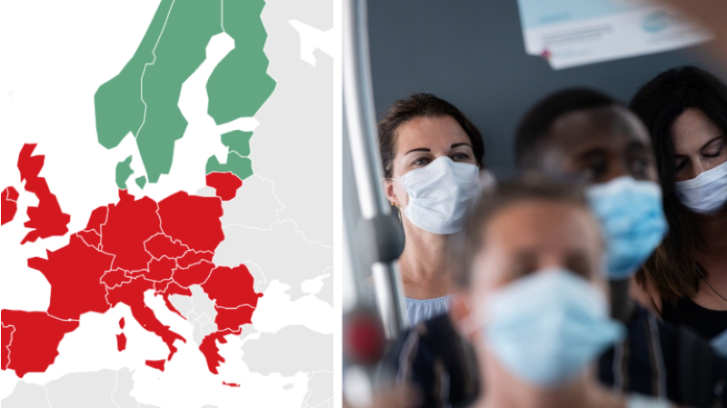 De nombreux pays d'Europe ont rendu le port du masque obligatoire dans les transports publics.