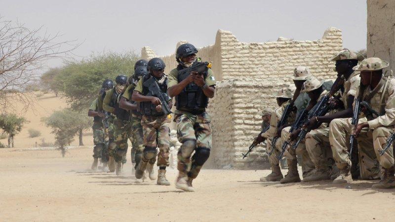 Bien que l'attaque n'ait pas été revendiquée, de nombreux regards se tournent vers Boko Haram, le groupe terroriste actif dans la région contre lequel les forces armées nigériennes (ici à gauche, lors d'un exercice combiné avec l'armée tchadienne en 2015) ont l'habitude de se battre.