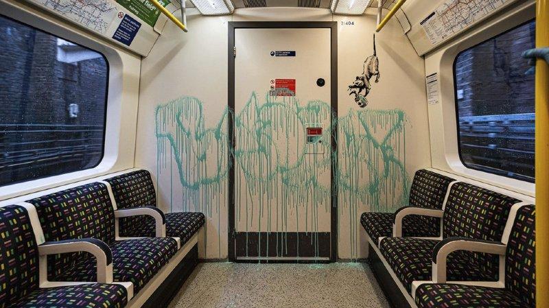 Métro de Londres: un Banksy contre le Covid-19 effacé «par erreur»