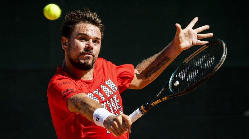 Stan Wawrinka s'est entraîné avec le français Pierre-Hugues Herbert durant plus de deux heures devant les médias, ce vendredi matin au tennis club de Nyon.