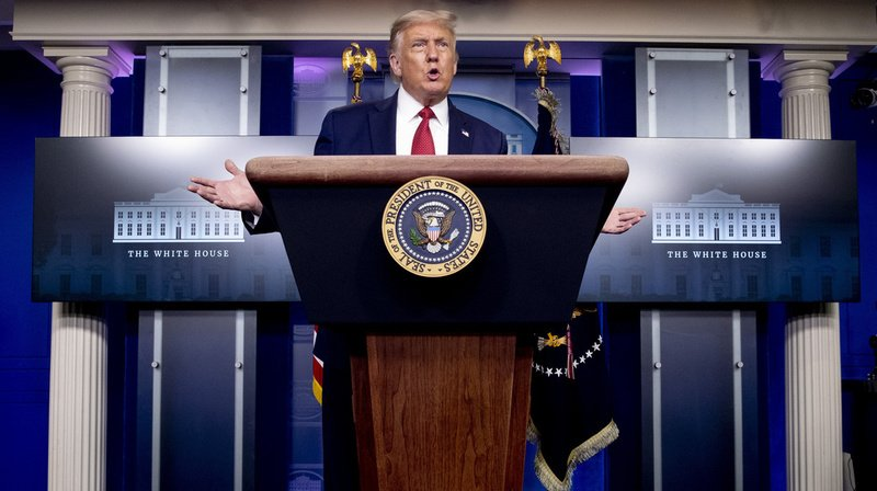 Le président américain est revenu expliquer calmement aux journalistes ce qui s'était passé. (illustration)