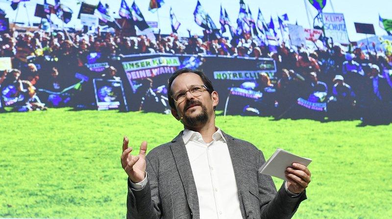 """""""Nous luttons pour que l'après Covid soit plus vert que l'avant"""", a lancé le président Balthasar Glättli."""