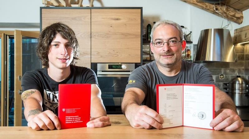 Troistorrents: père et fils, ils ont décroché leur CFC en même temps