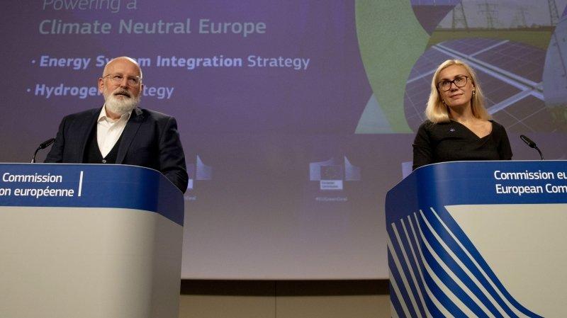 Energie: l'Europe vise la neutralité carbone à 2050 grâce à l'hydrogène propre