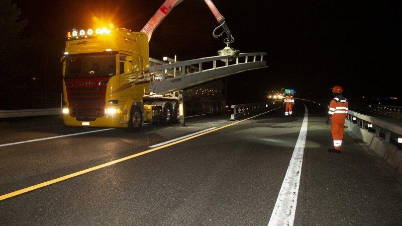 Dernières fermetures nocturnes pour l'autoroute A9 autour de Martigny