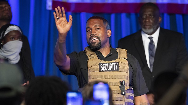 Le très émotif candidat Kanye West — Présidentielle Américaine