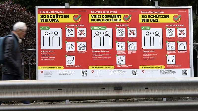 Coronavirus: 66 nouveaux cas en 24 heures en Suisse