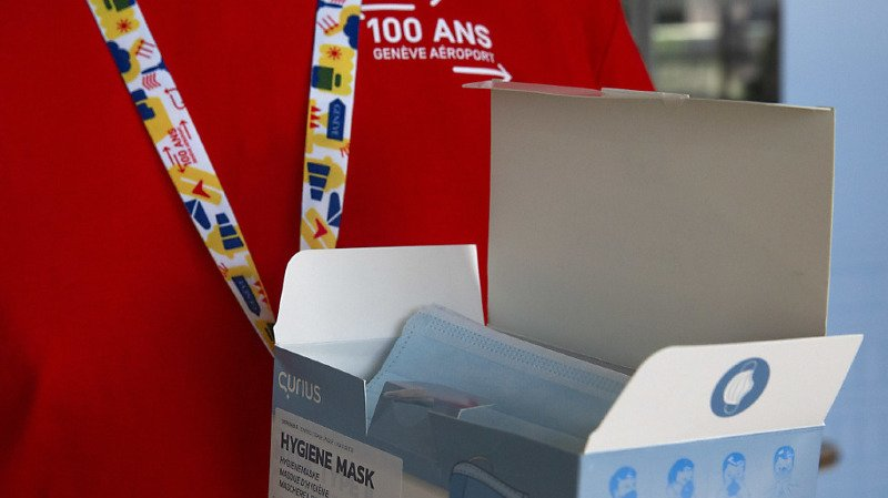 Coronavirus: port du masque obligatoire à Genève Aéroport dès mardi