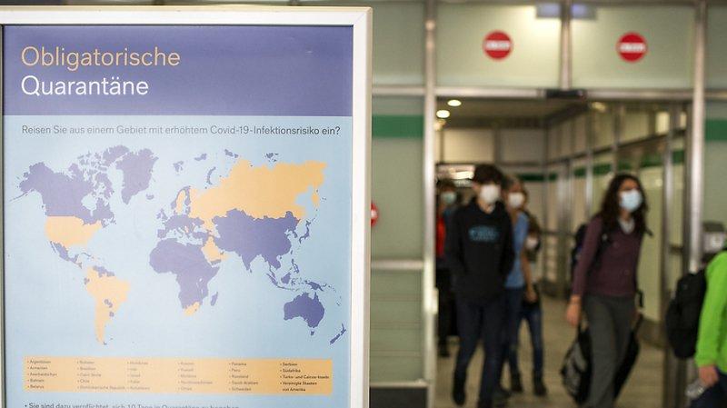 Coronavirus: plus de 5500 voyageurs de retour de pays à risque se sont mis en quarantaine
