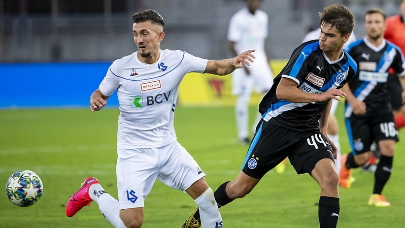Football: succès à la 91e minute pour Lausanne contre Grasshopper