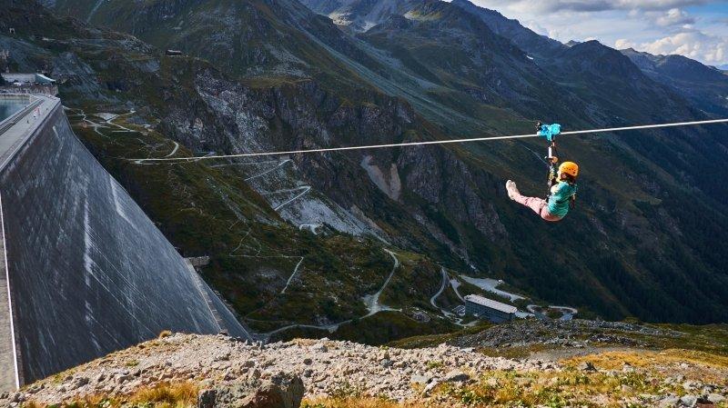5836 descentes ont été enregistrées en 2019 sur l'AlpinLine à la Grande Dixence.