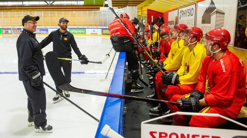 Hockey: les joueurs du HC Sierre ont repris les entraînements sans savoir quand la saison débutera