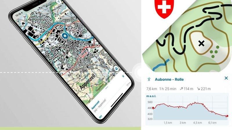 Application swisstopo: toutes les cartes de la Suisse sur téléphone et tablette