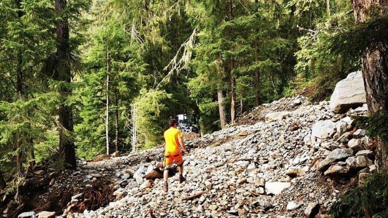 Orages en Valais: des routes secondaires ont été coupées par des éboulements
