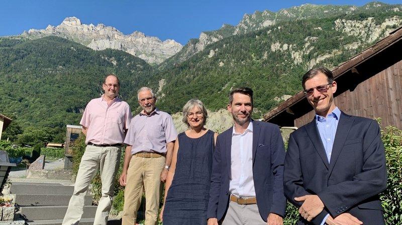 La liste se compose de Michel Tacchini, René Jacquier, Doris Mottiez, Ludovic Aigroz et Tobias Schneider.