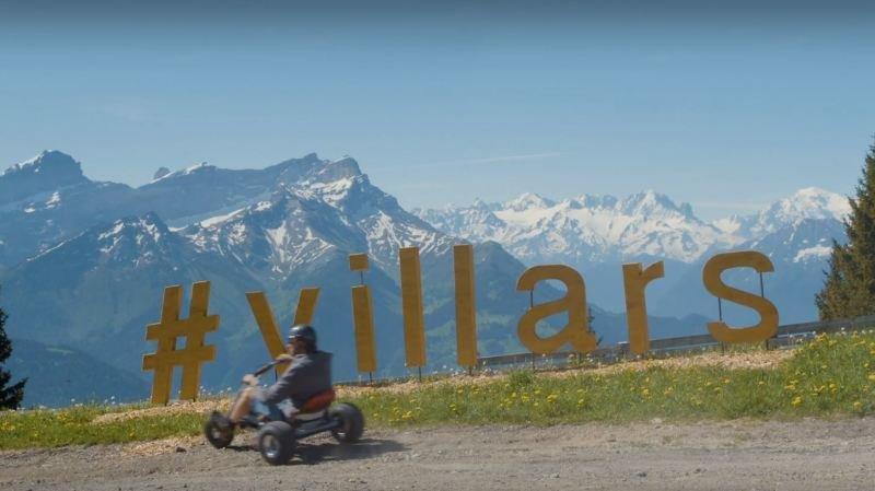 Nouvelle activité cet été à Villars, le mountaincart depuis le sommet de la télécabine du Roc d'Orsay jusqu'en station.