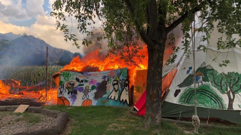 Sion: incendie à l'extérieur du centre RLC