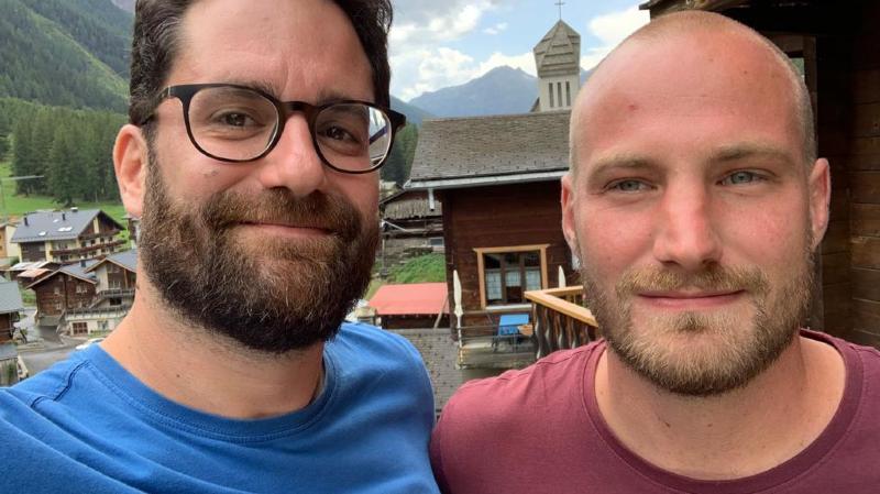 Alexandre Beney et Dimitri Mathey auront passé quatre jours dans le Lötschental.
