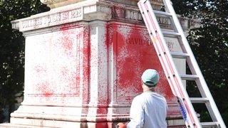 Neuchâtel: la statue de David de Pury vandalisée durant la nuit