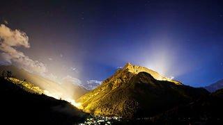 Evolène: un show lumineux a remplacé le traditionnel feu d'artifice