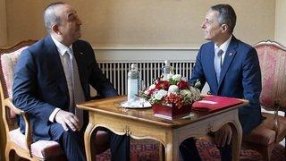 Suisse-Turquie: Ignazio Cassis reçoit le chef de la diplomatie turque