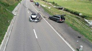 Carambolage au Gothard: plusieurs millions de dégâts et une passagère grièvement blessé